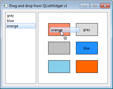 Drag and drop from QListWidget onto QGraphicsItem