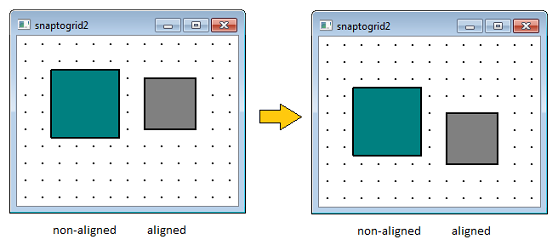 Snap to grid while moving QGraphicsItem