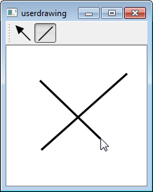 How to draw QGraphicsLineItem during run time with mouse